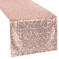Rental store for LINEN SUN TABLE RUNNER SEQUIN ROSE GOLD in Mentor OH