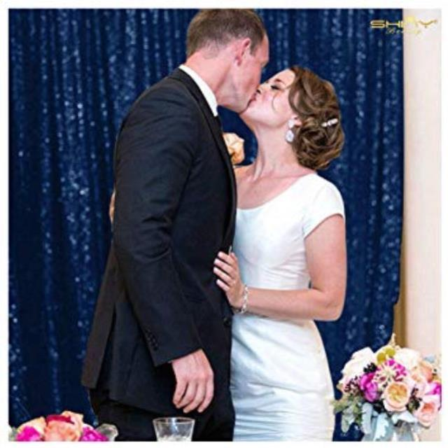 Where to find BACKDROP DRAPE-NAVY SEQUIN in Mentor