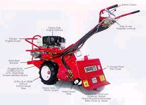 Where to find LAWN ROTO-TILLER 13HP REAR-TIN in Mentor