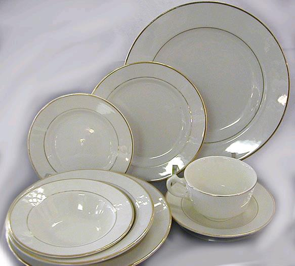 Where to find CHINA GOLD 7  SALAD PLATE 5 pk in Mentor