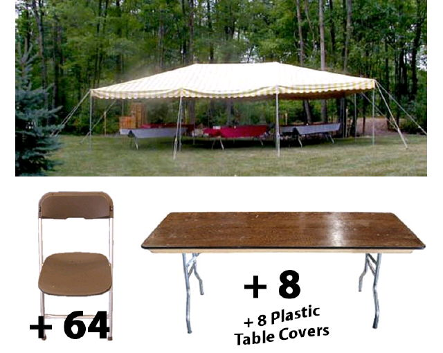 Party Tents For Sale 20x30 >> PACKAGE 20X30 CANOPY SEATS 64 Rentals Mentor OH, Where to ...