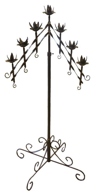 Where to find CANDELABRA 7 BRANCH SILVER V in Mentor