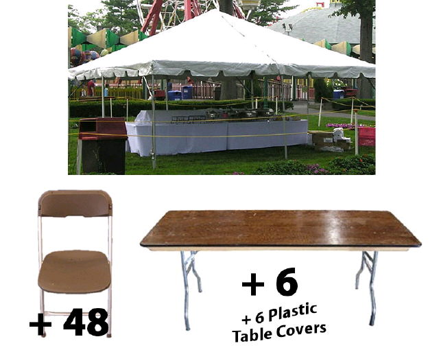Where to rent PACKAGE-20X20 TENT LONG TABLES FOR 48 in Cleveland, Chardon OH, Chagrin Falls Ohio, Ashtabula,  Mentor OH