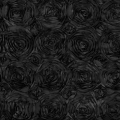 Rental store for LINEN SUN TABLE RUNNER ROSETTE BLACK in Mentor OH