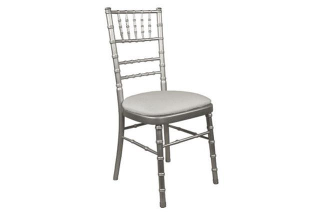 Where to find CHAIR CHIAVARI SILVER W IVORY CUSHION in Mentor