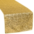 Rental store for LINEN SUN TABLE RUNNER SEQUIN-GOLD in Mentor OH