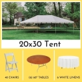 Rental store for PACKAGE-20X30 TENT ROUND TABLES FOR 48 in Mentor OH