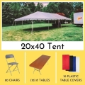 Rental store for PACKAGE-20X40 TENT LONG TABLES FOR 80 in Mentor OH