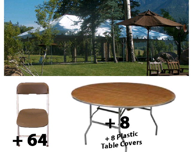 Package 20x40 Tent Round Tables For 64 Rentals Mentor Oh