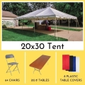 Rental store for PACKAGE-20X30 TENT LONG TABLES FOR 64 in Mentor OH